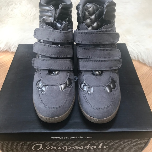 Aeropostale Shoes - Gray/metallic wedges sneakers *NEW*